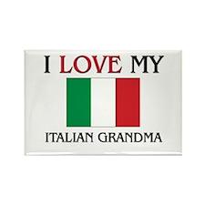 I Love My Italian Grandma Rectangle Magnet