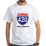 Highway 420 White T-Shirt