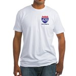 Highway 420 Fitted T-Shirt