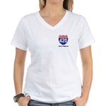 Highway 420 Women's V-Neck T-Shirt