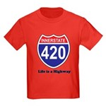 Highway 420 Kids Dark T-Shirt