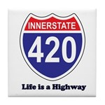 Highway 420 Tile Coaster
