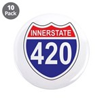 "Highway 420 3.5"" Button (10 pack)"