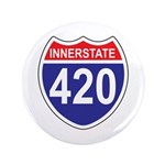 "Highway 420 3.5"" Button (100 pack)"