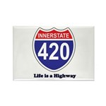 Highway 420 Rectangle Magnet (100 pack)