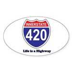 Highway 420 Oval Sticker