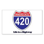 Highway 420 Rectangle Sticker