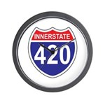 Highway 420 Wall Clock