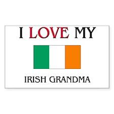 I Love My Irish Grandma Rectangle Decal