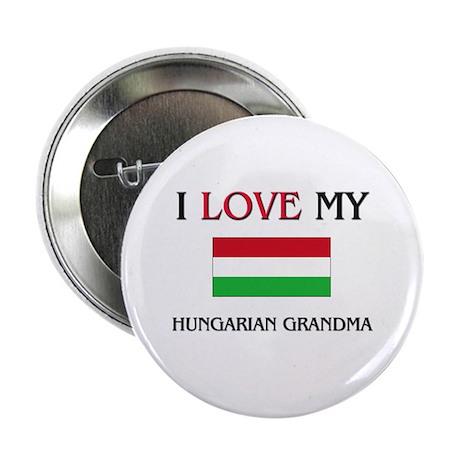 "I Love My Hungarian Grandma 2.25"" Button (10 pack)"