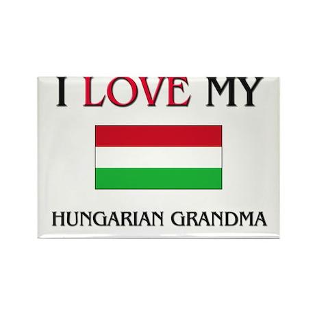 I Love My Hungarian Grandma Rectangle Magnet (10 p