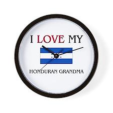 I Love My Honduran Grandma Wall Clock