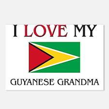 I Love My Guyanese Grandma Postcards (Package of 8