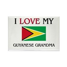 I Love My Guyanese Grandma Rectangle Magnet