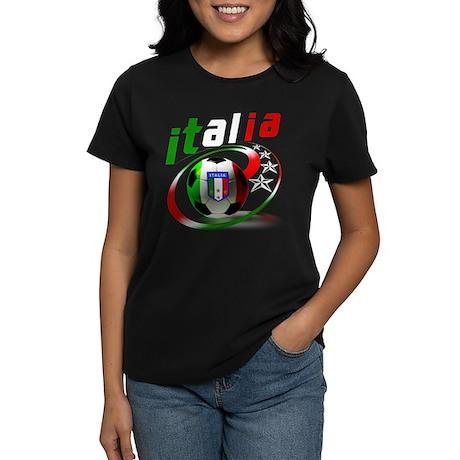 Italia Soccer World Sports Women's Dark T-Shirt