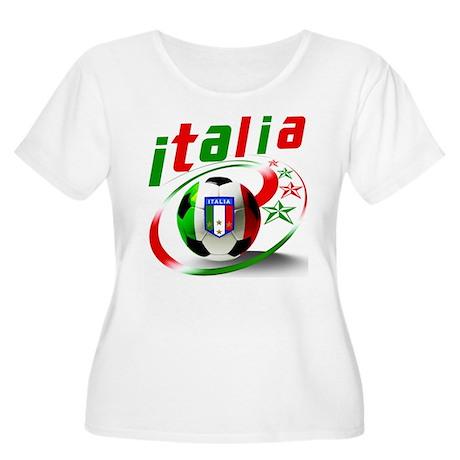 Italia Soccer World Sports Women's Plus Size Scoop