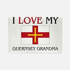 I Love My Guernsey Grandma Rectangle Magnet (10 pa