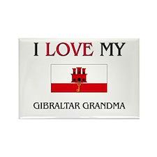 I Love My Gibraltar Grandma Rectangle Magnet