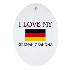 I Love My German Grandma Oval Ornament