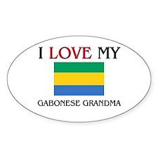 I Love My Gabonese Grandma Oval Decal
