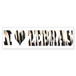 i love zebras Bumper Sticker (50 pk)