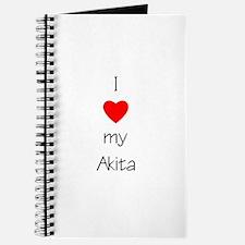 I Love My Akita Journal