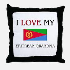 I Love My Eritrean Grandma Throw Pillow