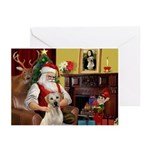 Santa's Yellow Lab #7 Greeting Cards (Pk of 20)
