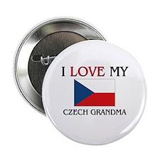 "I Love My Czech Grandma 2.25"" Button"