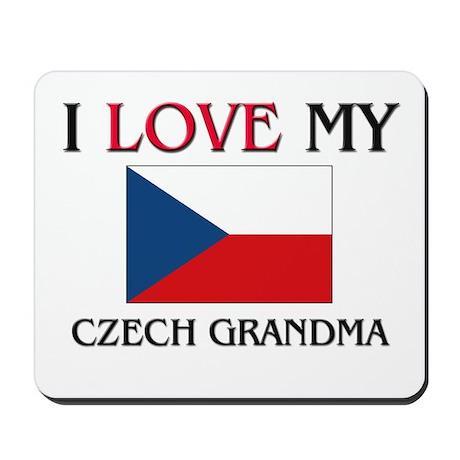 I Love My Czech Grandma Mousepad