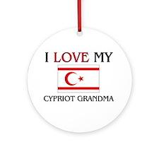 I Love My Cypriot Grandma Ornament (Round)