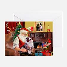 Santa's Aussie Shepherd Greeting Card