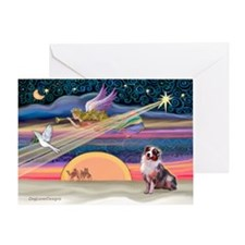XmasStar-Aussie Shepherd #1 Greeting Card