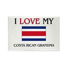I Love My Costa Rican Grandma Rectangle Magnet