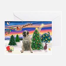 Santa's Bull Mastiff #4 Greeting Card