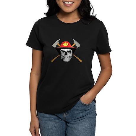Fireman Skull Women's Dark T-Shirt