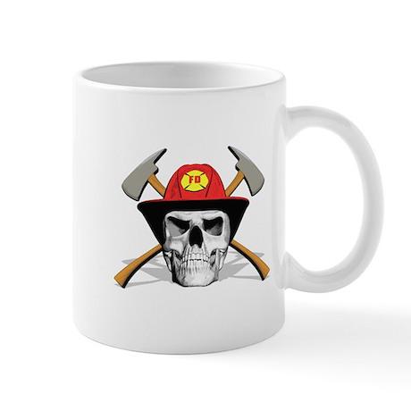 Fireman Skull Mug