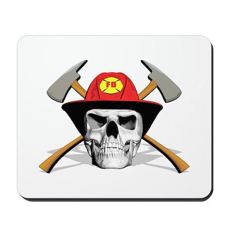 Fireman Skull Mousepad