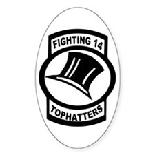 VFA 14 Tophatters Oval Decal