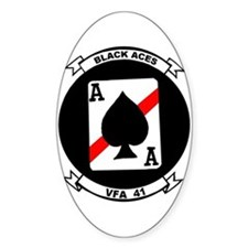 VFA 41 Black Aces Oval Decal