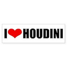 I Love Houdini Bumper Bumper Sticker