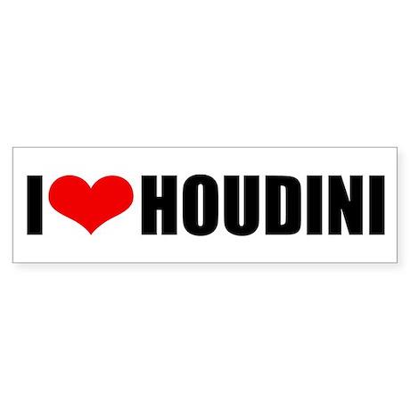 I Love Houdini Bumper Sticker