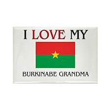 I Love My Burkinabe Grandma Rectangle Magnet