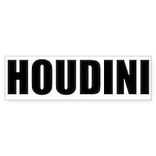 Houdini Bumper Sticker (Black On White)