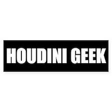 Houdini Geek Bumper Sticker (White on Black)