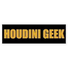 Houdini Geek Bumper Sticker (Gold on Black)