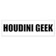 Houdini Geek Bumper Sticker (Black on White)