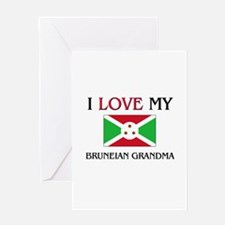 I Love My Bruneian Grandma Greeting Card