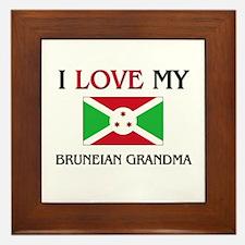 I Love My Bruneian Grandma Framed Tile