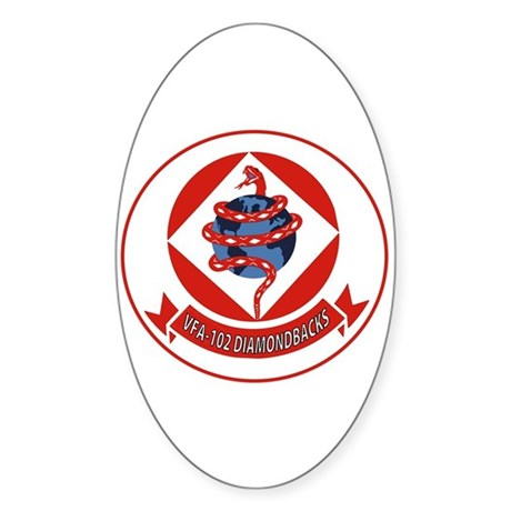VFA 102 Diamondbacks Oval Sticker
